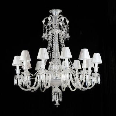 Lustre Gallery Candelabro Cristal Vidro Branco 86x85cm Bella Iluminação 8 E14 Bivolt BW1308C Entradas e Hall