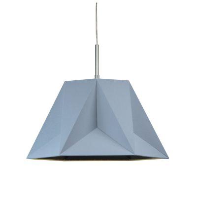Pendente Poli Vertical Tecido Metal Cinza 25x29cm Bella Iluminação 1 G9 Halopin Bivolt CC004C Cozinhas e Quartos