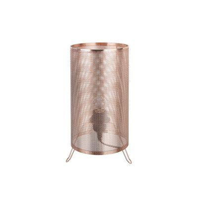 Abajur Telinha Tubular Metal Cobre Decorativo 31,5x16cm Bella Iluminação 1 E-27 Bivolt CI009B Mesas e Salas