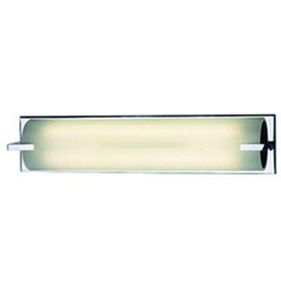 Arandela Blum Retangular Metal Cromado Vidro 14x67cm Bella Iluminação 2 T5 Tubular CO306 Corredores e Banheiros