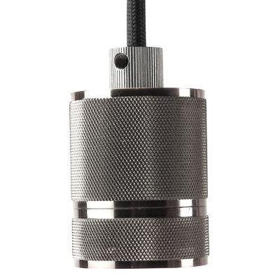 Pendente Socket Tubular Vertical Metal Cromado 6x4,8cm Bella Iluminação 1 E-27 Bivolt DA002C Salas e Quartos
