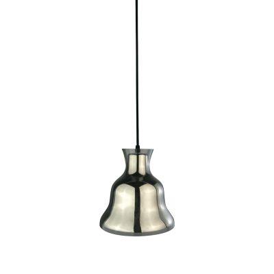 Pendente Bule Sino Metal Cromado Vidro Transparente 21x21cm Bella Iluminação 1 E-27 40W DA007C Cozinhas e Salas