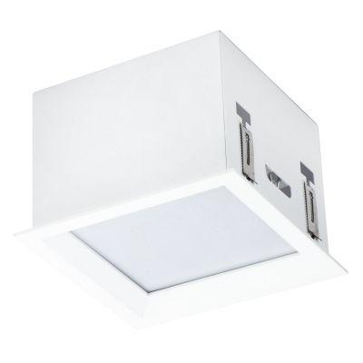 Plafon Tec Cubo Quadrado Acrílico Branco 12x17cm Bella Iluminação 1 E-27 Bivolt DL001 Corredores e Entradas