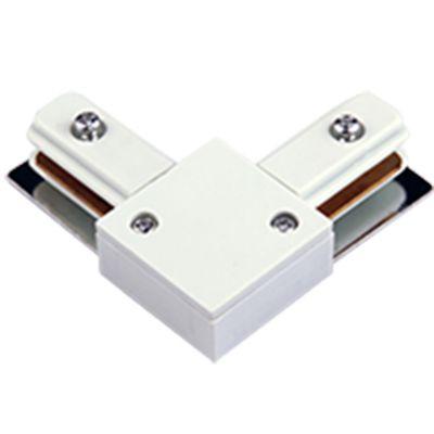 Conector L para Trilho Metal Branco DL024B Bella Iluminação