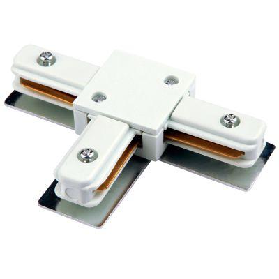 Conector T para Trilho Metal Branco DL025B Bella Iluminação
