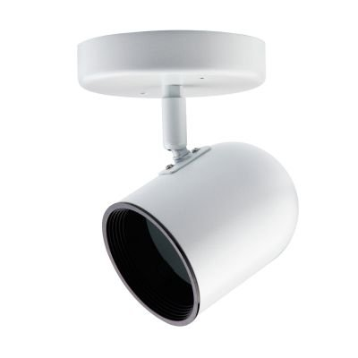 Spot Canopla Pharos Direcionável Metal Branco 18x7,1cm Bella Iluminação 1x PAR 20 DL037B Salas e Escritórios