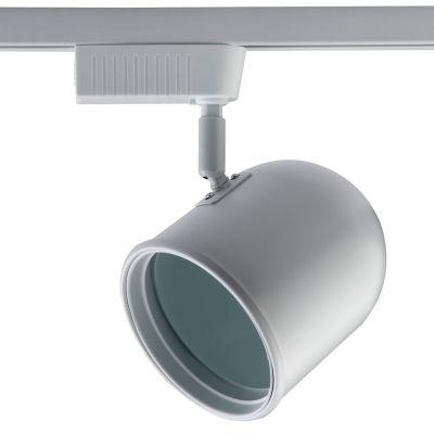 Spot Pharos Trilho Direcionável Metal Branco 18x11cm Bella Iluminação 1x AR111 220V DL042B-220V Escritórios e Salas