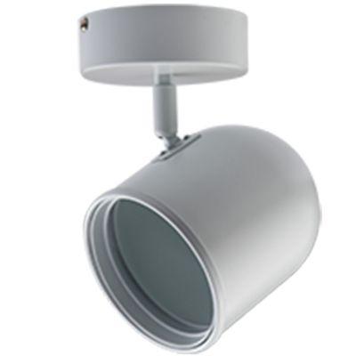 Spot Pharos Canopla Direcionável Metal Branco 18x11cm Bella Iluminação 1x AR111 Bivolt DL043B Escritórios e Salas