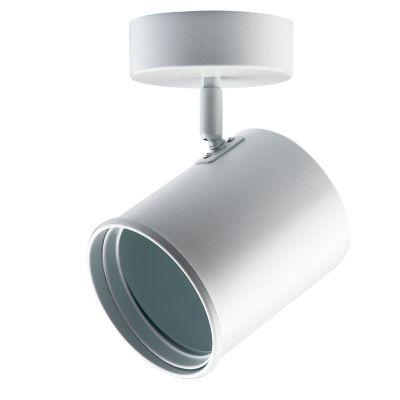 Spot Beam Canopla Direcionável Branco Metal 20x12cm Bella Iluminação 1x AR111 Bivolt DL053B Salas e Escritórios
