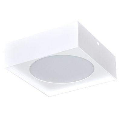 Plafon Bin LED Quadrado Alumínio Branco 7x12cm Bella Iluminação 1 LED 12W Bivolt DL055M Banheiros e Corredores