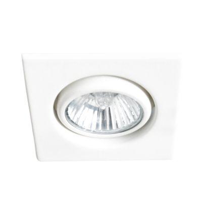 Spot Pop Quadrado Embutido Alumínio Branco 2,2x8,6cm Bella Iluminação 1 Mini Dicróica DL058 Banheiros e Cozinhas