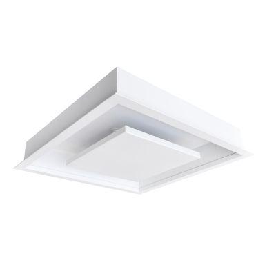Plafon Hide LED Quadrado Embutido Branco 8,3x34,5cm Bella Iluminação 1x LED 24W Bivolt DL077WW Cozinhas e Quartos