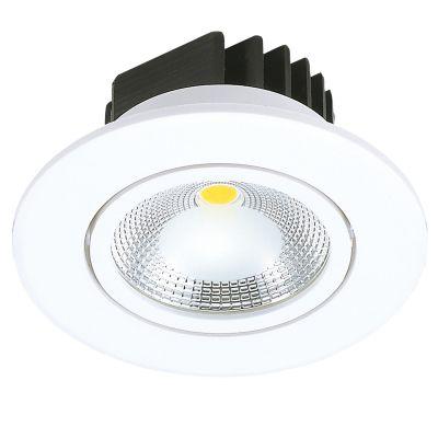 Spot Red Foko LED Embutido Redondo Branco 4,4x8,8cm Bella Iluminação 1x LED 5W Bivolt DL106R Banheiros e Quartos