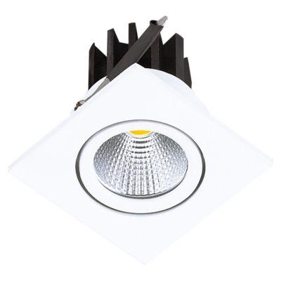 Spot Quad Foko LED Embutido Quadrado Branco 5,4x6,2cm Bella Iluminação 1x LED 3W Bivolt DL108Q Entradas e Banheiros