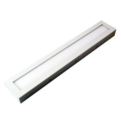 Plafon Ret Smart LED Sobrepor Retangular Branco 60x10cm Bella Iluminação 1 LED 18W Bivolt DL119CW Quartos e Salas