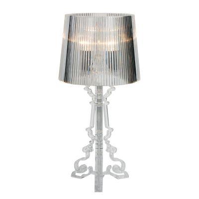 Abajur Star Decorativo Acrílico Cupula Transparente 68x38cm Bella Iluminação 3 E14 Bivolt EA800 Cabeceiras e Mesas