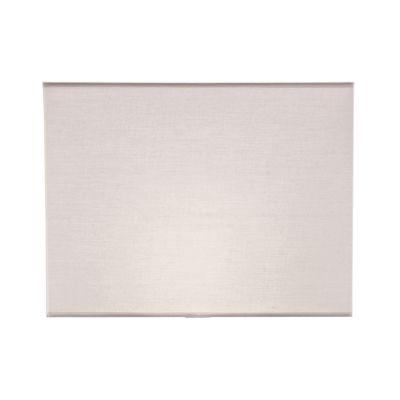Cupula Retangular Tecido Branco 30x40cm Bella Iluminação EX2219 Abajures