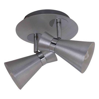 Spot Sob Direcionável Redondo Duplo Escovado 14x17,5cm Bella Iluminação 2 E14 Bivolt FH012A Salas e Corredores