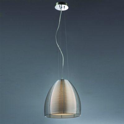Pendente Wire Cupula Conica Vidro Transparente Alumínio Ø30cm Bella Iluminação 1 E27 Bivolt GA001S Salas e Entradas