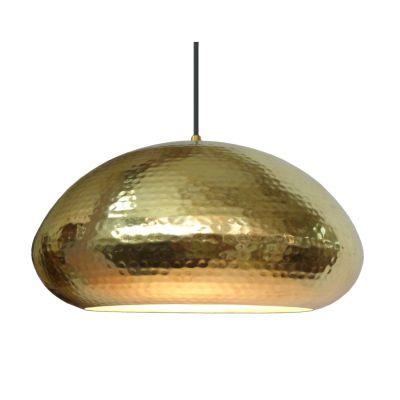 Pendente Fatsa Decorativo Redondo Metal Dourado 18x32cm Bella Iluminação 1x E27 Bivolt GP004A Escritórios e Salas