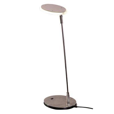 Luminária de Mesa Direcionável Cromado Prata 40x13cm Bella Iluminação 1x LED 3W Bivolt HB712 Mesas e Escritórios