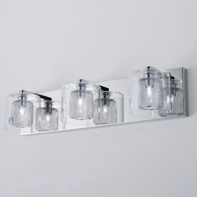 Arandela Lampar Tripla Metal Cromado Vidro 13x52cm Bella Iluminação 3 G9 Halopin Bivolt HO057 Corredores e Quartos