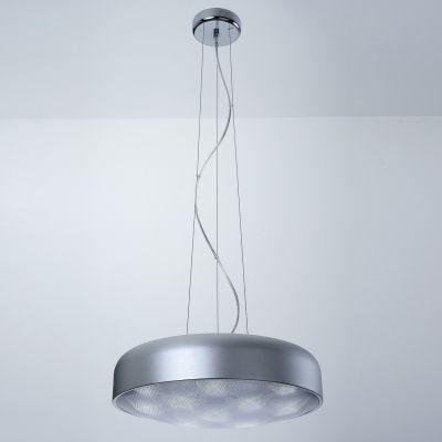 Pendente Redondo Alumínio Acrílico Prata 30x46cm Bella Iluminação 12 LED Bivolt HO096S Cozinhas e Entradas