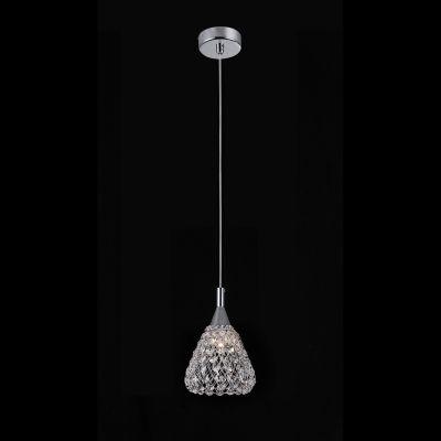 Pendente Trama Metal Cristal Transparente 15x13cm Bella Iluminação 1 G9 Halopin Bivolt HO119 Salas e Cozinhas