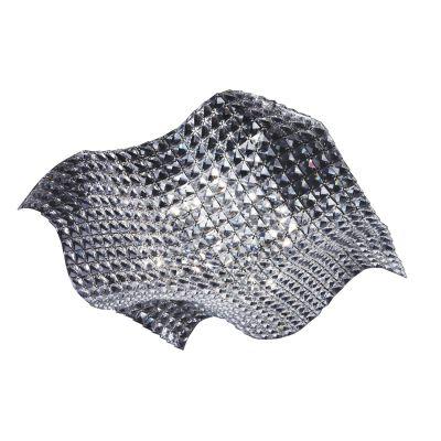 Plafon Arraia Metal Cromado Cristal Transparente 12x44cm Bella Iluminação 4 G9 Halopin HO1337C Mesas e Quartos