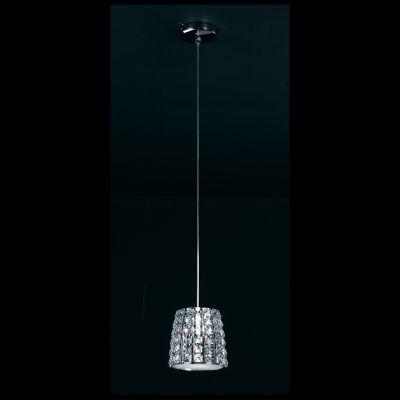 Pendente Vienna Metal Cromado Cristal Vidro 25x26cm Bella Iluminação 3 G9 Halopin Bivolt HO172P Salas e Cozinhas