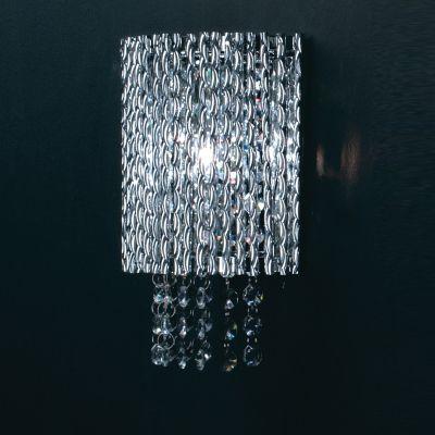 Arandela Adagio Alumínio Retangular Vidro Cristal 21x19cm Bella Iluminação 1 G9 Halopin HO207W Corredores e Quartos