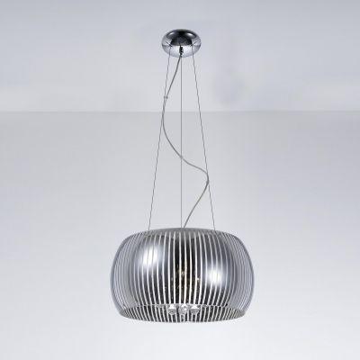 Pendente Soho Redondo Metal Vidro Transparente 21x40cm Bella Iluminação 5 G9 Halopin Bivolt HO7840 Salas e Quartos