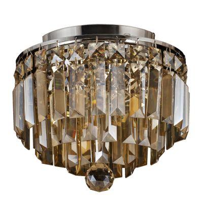 Plafon Kri Metal Cromado Cristal Lapidado 21,5x25cm Bella Iluminação 4 G9 Halopin Bivolt HU1100A Entradas e Quartos