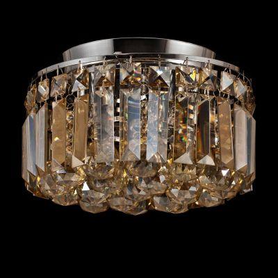 Plafon Kri Metal Cromado Cristal Esferico 20,5x25cm Bella Iluminação 4 G9 Halopin Bivolt HU1102A Entradas e Salas