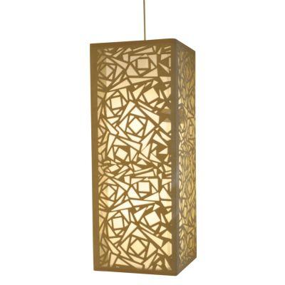 Pendente Camurça Retangular Aço Bege Branco 60x23cm Bella Iluminação 2 E27 Bivolt HU2167AL Cozinhas e Quartos