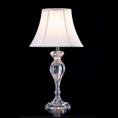 Abajur Lik Acrílico Cupula Tecido Cru Branco Ø42cm Bella Iluminação 1 E27 Bivolt HU3006 Mesas e Criados-Mudos