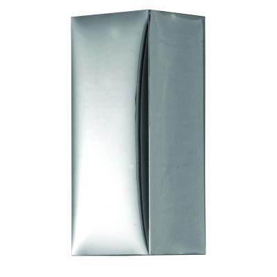 Arandela Acetato Espelhado Tubular Quadrado 30x12cm Bella Iluminação 1 E27 Bivolt HU5012S Corredores e Quartos
