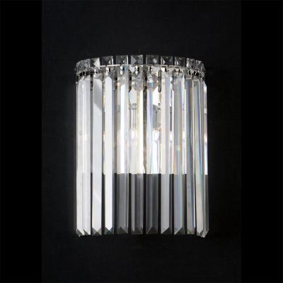 Arandela Charm Metal Cristal Transparente 33x25cm Bella Iluminação 2 G9 Halopin Bivolt HU5023 Corredores e Salas
