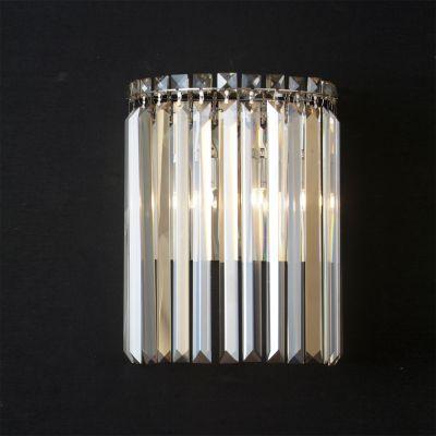 Arandela Charm Metal Cristal Âmbar 33x25cm Bella Iluminação 2 G9 Halopin Bivolt HU5023A Corredores e Salas