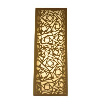Arandela Camurça Metal Bege Vertical Quadrado 60x22cm Bella Iluminação 2 E27 Bivolt HU5026A Entradas e Quartos