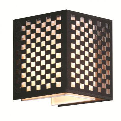Arandela Cubo Decorativa Metal Tecido Preto 42x17cm Bella Iluminação 2 E27 Bivolt HU5027BM Entradas e Hall
