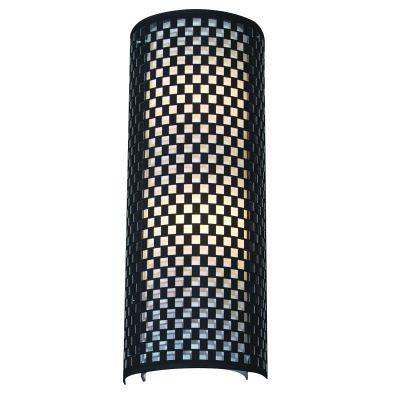 Arandela Tubular Vertical Metal Tecido Preto Branco 60x23cm Bella Iluminação 2 E27 Bivolt HU5030BL Entradas e Salas