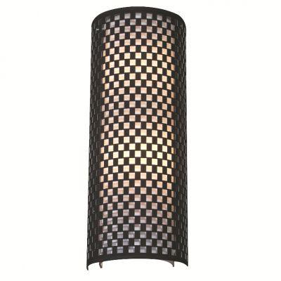 Arandela Tubular Vertical Metal Tecido Preto Branco 42x20cm Bella Iluminação 2 E27 Bivolt HU5030BM Entradas e Salas