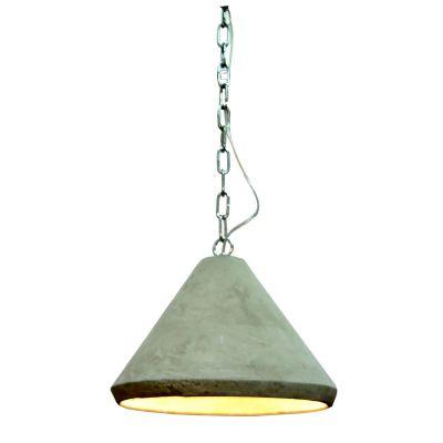 Pedente Cemento Conico Concreto Cinza Vertical 22x32,6cm Bella Iluminação 1 E27 Bivolt ID004 Balcões e Mesas