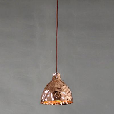 Pendente Brass Sino Vertical Metal Cobre 25x25,5cm Bella Iluminação 1 E27 Bivolt JY003B Entradas e Balcões