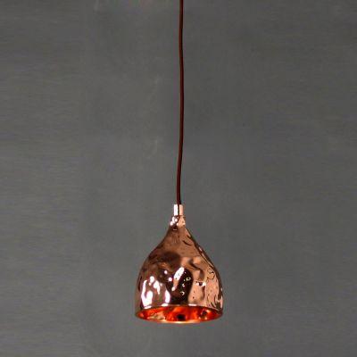 Pendente Brass Sino Vertical Metal Cobre 17x12,5cm Bella Iluminação 1 G9 Halopin Bivolt JY005B Balcões e Mesas