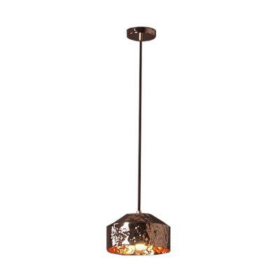 Pendente Brass Redondo Vertical Metal Cobre 16x24cm Bella Iluminação 1 E27 Bivolt JY006B Balcões e Mesas