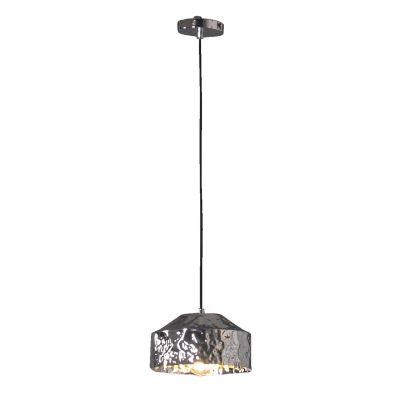 Pendente Brass Redondo Vertical Metal Cromado 16x24cm Bella Iluminação 1 E27 Bivolt JY006C Mesas e Balcões