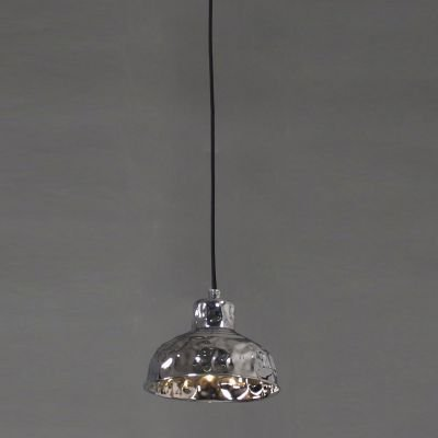 Pendente Brass Sino Vertical Metal Cromado 13,5x17,5cm Bella Iluminação 1 G9 Halopin Bivolt JY007C Mesas e Balcões
