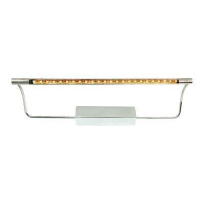 Arandela Aco LED Horizontal Metal Cromado 17x48cm Bella Iluminação LED 5W KG3032 Corredores e Entradas